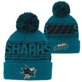 Detská zimná čiapka Outerstuff Pattern Jacquard Cuff Pom NHL San Jose Sharks
