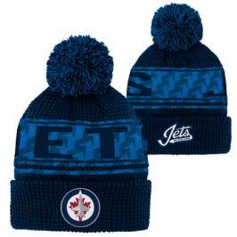 Detská zimná čiapka Outerstuff Pattern Jacquard Cuff Pom NHL Winnipeg Jets