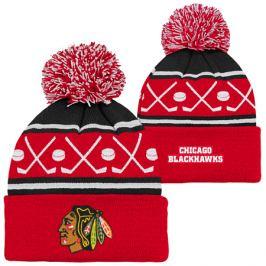 Detská zimná čiapka Outerstuff Face Off NHL Chicago Blackhawks