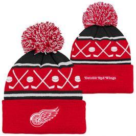 Detská zimná čiapka Outerstuff Face Off NHL Detroit Red Wings