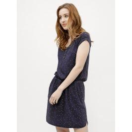 3685cfcdc0a0 Detail · Tmavomodré dámske bodkované šaty Ragwear Danila