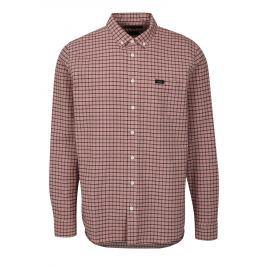 6d91fbf7da01 Detail · Ružová kockovaná regular fit košeľa Makia Keeper