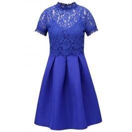 ba9b4246b216 Detail · Modré šaty s čipkovaným topom Little Mistress