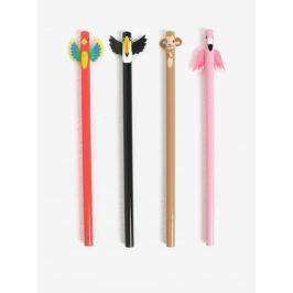 Súprava štyroch ceruziek s motívmi exotických zvierat Kikkerland