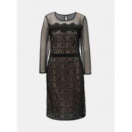 95b1e24dd966 Detail · Krémovo–čierne čipkované šaty s priesvitnými detailmi Dorothy  Perkins