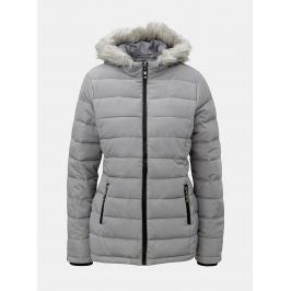 Detail · Sivá zimná prešívaná bunda s umelou kožušinkou Dorothy Perkins 3bcf3e0e6f7