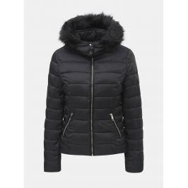 27dc189898 Detail · Čierna prešívaná zimná bunda s odnímateľnou kapucňou TALLY WEiJL  Woven