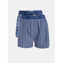 Súprava dvoch vzorovaných classic fit trenírok v modrej farbe Calvin Klein Underwear