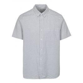 5ef3c3b14943 Detail · Modro-biela pruhovaná košeľa Burton Menswear London