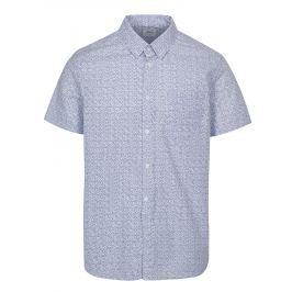 e52926586203 Detail · Bielo-modrá vzorovaná košeľa Burton Menswear London