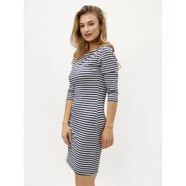 651e545ab Detail · Bielo-modré pruhované šaty s 3/4 rukávom ZOOT