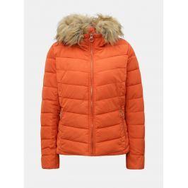 4d1a7e9878f0 Detail · Oranžová prešívaná bunda s odnímateľnou umelou kožušinkou ONLY New  Ellan