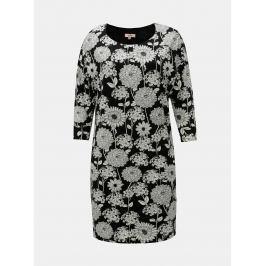 c6bcffb7b33f Detail · Bielo–čierne kvetované šaty s 3 4 rukávom La Lemon