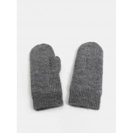 947c5e43a Sivé melírované rukavice s prímesou vlny z alpaky Pieces