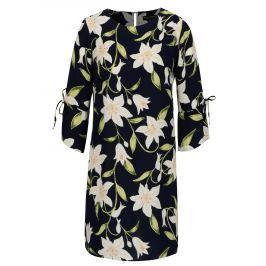eafd5690c631 Detail · Tmavomodré kvetované šaty s 3 4 rukávom Dorothy Perkins