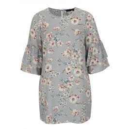 def9e03f4f09 Detail · Svetlomodré kvetované šaty s volánmi Dorothy Perkins Curve