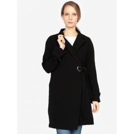 Detail · Čierny kabát s opaskom VERO MODA Bette a715ddf255e