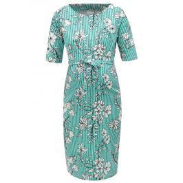 86fdce50465e Detail · Bielo-zelené tehotenské vzorované šaty Mama.licious