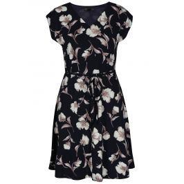 Detail · Tmavomodré áčkové kvetované šaty Mela London 186d873835