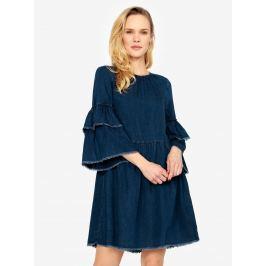 d3be012b8848 Detail · Tmavomodré rifľové šaty so zvonovým rukávom ONLY Flynn