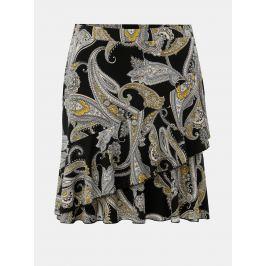 6dda34d4cd01 Detail · Čierna vzorovaná sukňa s volánom Dorothy Perkins