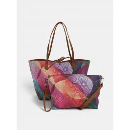 Detail · Hnedo-fialový obojstranný shopper s puzdrom Desigual Mercury 0f8f300702f