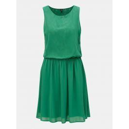 fb1fdf3e8486 Detail · Zelené šaty s gumou v páse VERO MODA