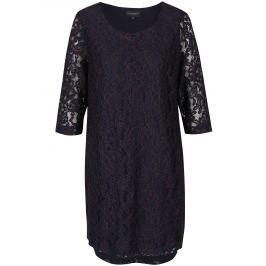 Detail · Tmavomodré čipkové šaty s 3 4 rukávom Broadway Maude 6e8d941ee85