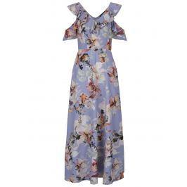 cc15e33ba29a Detail · Krémovo-modré kvetované maxišaty s prestrihmi na ramenách Dorothy  Perkins