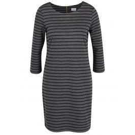 113d6be0ecb6 Čierno-sivé pruhované šaty s 3 4 rukávom VILA Tinny