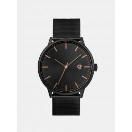 Unisex hodinky vo tmavosivé metalické farbe CHPO Nando