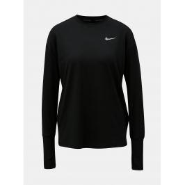 748da749eaf0 Detail · Čierne dámske funkčné tričko s dlhým rukávom Nike