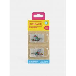 Balenie transparentných lepiacich záložiek s motívom kolibríka Mustard