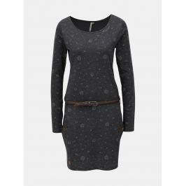 Detail · Sivé melírované šaty so vzorom a dlhým rukávom Ragwear Talona  Organic 74ba6e5f05a