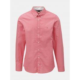 Detail · Červená pánska slim fit košeľa Tommy Hilfiger Diamond 547b0bf2128
