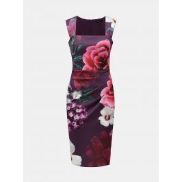 Detail · Fialové kvetované šaty Scarlett B 82d8fdb4bf4