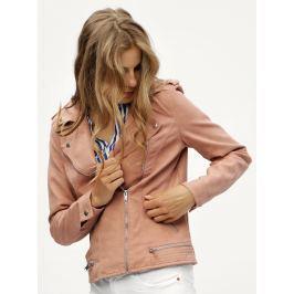 Detail · Ružová koženková bunda VERO MODA World cf96d329053