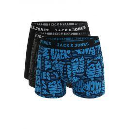 Súprava troch boxeriek v čiernej farbe Jack & Jones