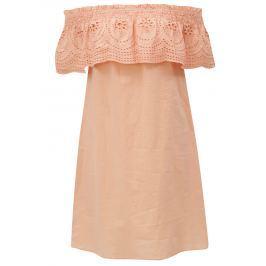 Detail · Marhuľové šaty s odhalenými ramenami Dorothy Perkins 69a769e38ea