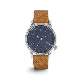 Unisex hodinky s hnedým koženým remienkom Komono Winston
