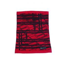 Teplá multifunkčná šatka - Červená s čiernou univerzal