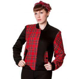 bunda jarno/jesenná dámske - Tartan - BANNED - JBN612