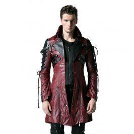kabát pánsky PUNK RAVE - Poisonblack - Y-349-red