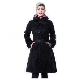 kabát dámsky POIZEN INDUSTRIES - FROZEN - BLACK - POI632