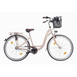 Mestský dámsky retro bicykel COSSACK Luna 28/3B cappuccino - 2018 Krémová 17″