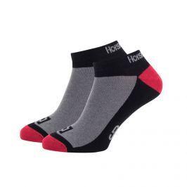 Ponožky HORSEFEATHERS Dom black Čierno-sivo-červená uk 7-9