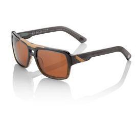 Okuliare 100% Burgett Carbon Fade Dark Bronze Lens Tmavo sivá