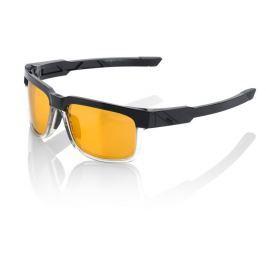 Okuliare 100% Type S Licorice Gold Mirror Lens Čierno-žltá