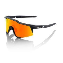 Okuliare 100% Speedcraft Tall Soft Tact Black w/ HiPer Red Multilayer Mirror Čierno-oranžová