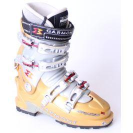 BAZÁR Skialpinistické Lyžiarky GARMONT MegaStar MG Sivo-zlatá 24.5